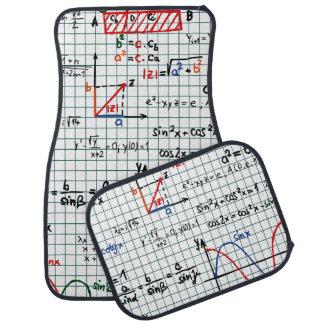 Math Formulas Numbers Car Mat