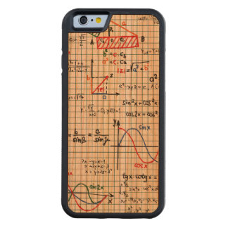 Math Formulas Numbers Carved Cherry iPhone 6 Bumper Case