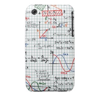 Math Formulas Numbers iPhone 3 Case
