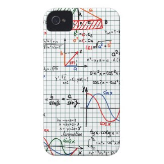 Math Formulas Numbers iPhone 4 Case