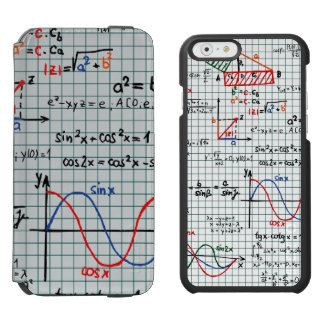 Math Formulas Numbers iPhone 6/6s Wallet Case