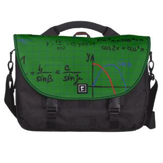 Math Formulas Numbers Laptop  Bag Commuter Bag