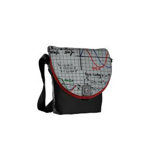Math Formulas Numbers Messenger Bag