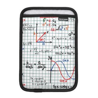 Math Formulas Numbers Mini iPad Sleeve