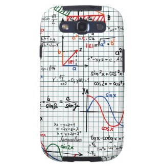 Math Formulas Numbers Samsung Galaxy S3 Case