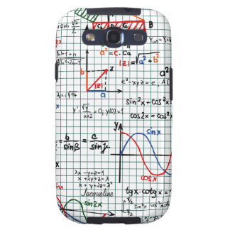 Math Formulas Numbers Samsung Galaxy S3 Case Galaxy SIII Covers