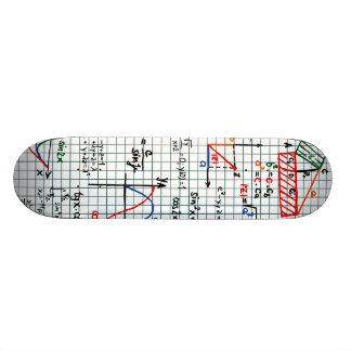 Math Formulas Numbers Skateboard