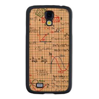 Math Formulas Numbers Carved® Cherry Galaxy S4 Slim Case