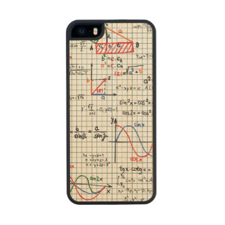 Math Formulas Numbers Wood Phone Case For iPhone SE/5/5s