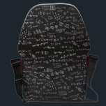 "Math Formulas On A Blackboard Courier Bag<br><div class=""desc"">Blackboard with math formulas. Let everyone know how much you love math or a great gift for the scientifically and mathematically conscious.</div>"