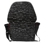 Math Formulas On A Blackboard Courier Bag<br><div class='desc'>Blackboard with math formulas. Let everyone know how much you love math or a great gift for the scientifically and mathematically conscious.</div>