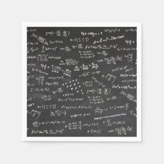Math Formulas On A Blackboard Napkin