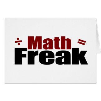 Math Freak Card