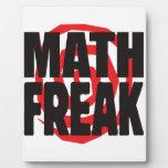 Math Freak Plaque