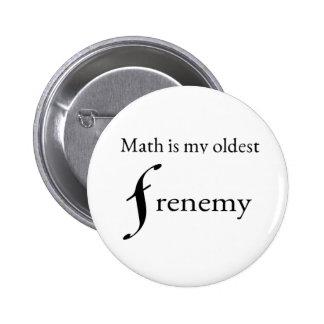 Math frenemy-button pinback button