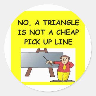 math geek joke stickers