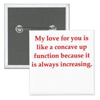 math geek love pick up line 2 inch square button