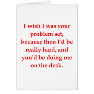 math geek love pick up line greeting card