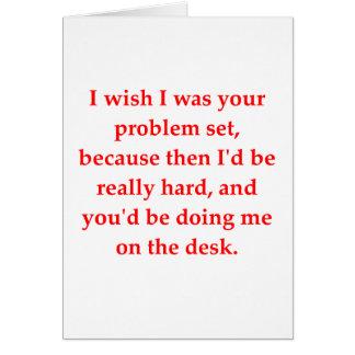 math geek love pick up line greeting card