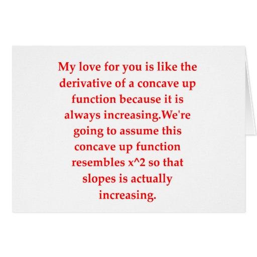 math geek love pick up line greeting cards