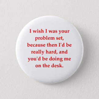 math geek love pick up line pinback button