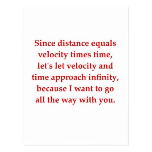 math geek love pick up line post card