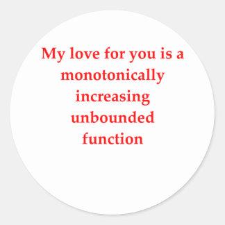 math geek love pick up line stickers