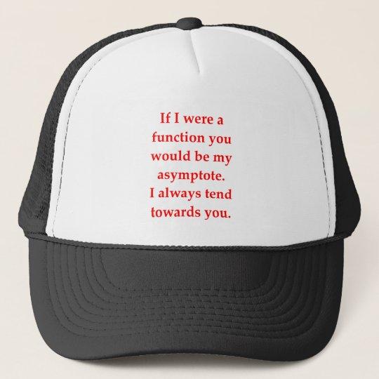 math geek love pick up line trucker hat