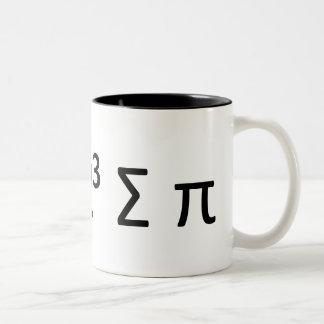 Math Geek Mug: i 8 sum pi