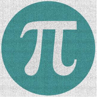 Math geek Pi symbol, blue circle and digits. Statuette