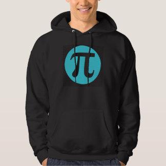 Math geek Pi symbol, blue on black Hoodie