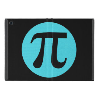 Math geek Pi symbol, blue on black iPad Mini Case