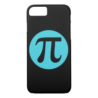 Math geek Pi symbol, blue on black iPhone 8/7 Case