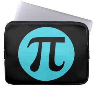 Math geek Pi symbol, blue on black Laptop Sleeve