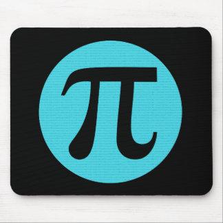 Math geek Pi symbol, blue on black Mouse Pad