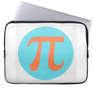 Math geek Pi symbol, orange and blue Computer Sleeve