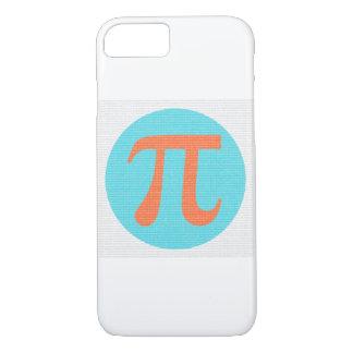 Math geek Pi symbol, orange and blue iPhone 8/7 Case