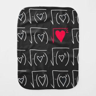 Math geek romance: find real love baby burp cloth