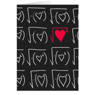 Math geek romance: find real love card