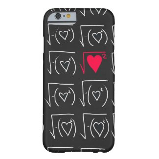 Math geek romance: find real love barely there iPhone 6 case