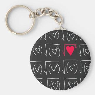 Math geek romance: find real love keychain