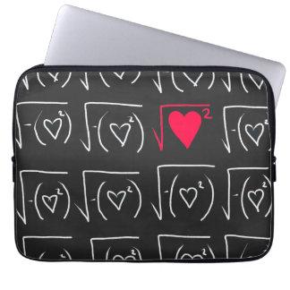 Math geek romance: find real love laptop sleeve