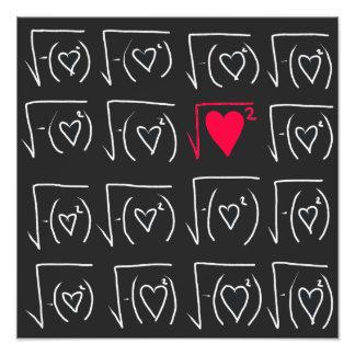 Math geek romance: find real love photographic print