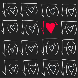 Math geek romance: find real love statuette