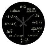 Math Geek Round Clocks