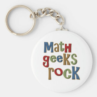 Math Geeks Rock Keychain