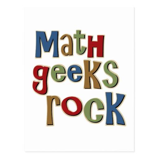 Math Geeks Rock Post Cards