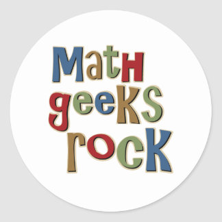 Math Geeks Rock Sticker