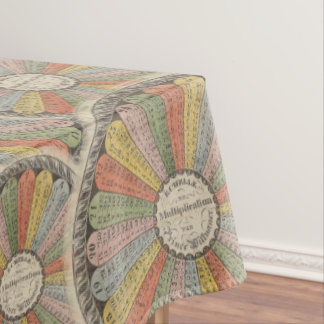 Math Geek's Vintage Multiplication Tables Tablecloth