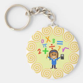 Math Girl Keychain